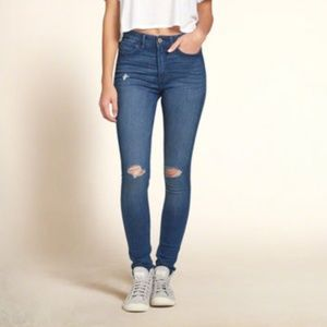 HOLLISTER super skinny high rise jeans AV5